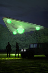 ufo triangular landing