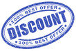 Discount blue stamp
