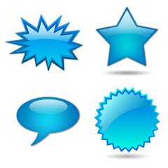 Star logos set