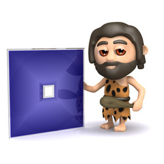 3d Caveman with his prototype HD DVD disc