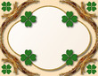 St. Patrick's Day decoration or grating card