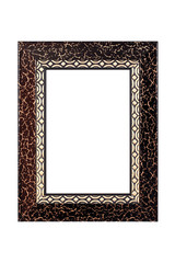 Gold-brown picture frame isolated on white background