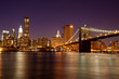 New York - Brooklyn Bridge by night