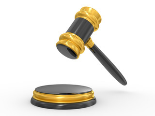 gold judge gavel