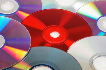 Background with CD / DVD disks