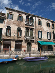 Venice - Buildings along the venetian canal