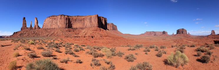 panoramique sur monument valley