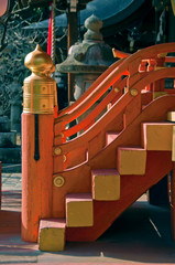 japanese temple staircase