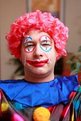 Clowns face in closeup