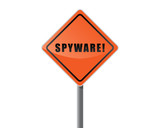 Signpost text spyware vector. poster