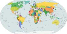 Globale La carte politique du monde, vecteur