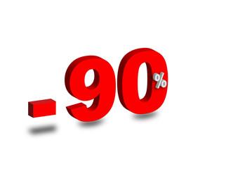 - 90 %