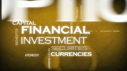 Financial investment tag cloud animation