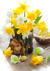 Narcissus and tulips for Easter