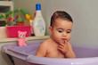 Cute Baby Bathtime