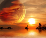 Fototapety Fantasy sunset