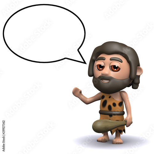 3d Caveman has something intelligent to say...