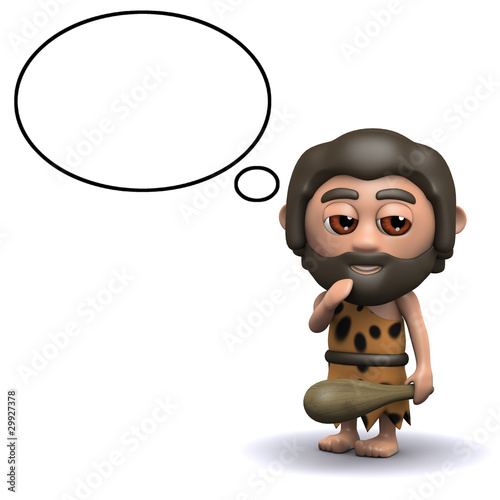 3d Stone age man has a cunning plan
