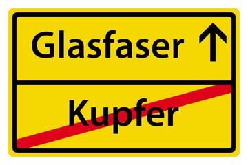 Glasfaser anstatt Kupfer