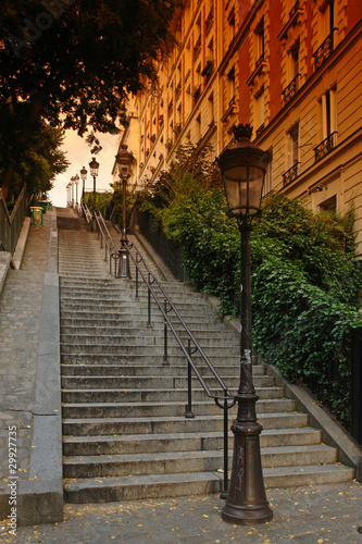 Paris; escalier de la butte Montmartre
