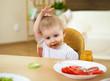 little boy having meal