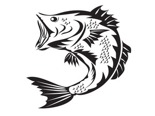 fishing symbol - bass