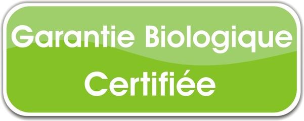 bouton garantie biologique certifiée
