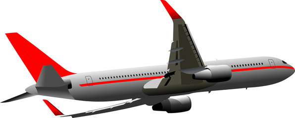 Passenger Airplanes.  Colored Vector illustration for designers
