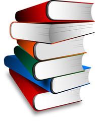 libri, pila , colonna