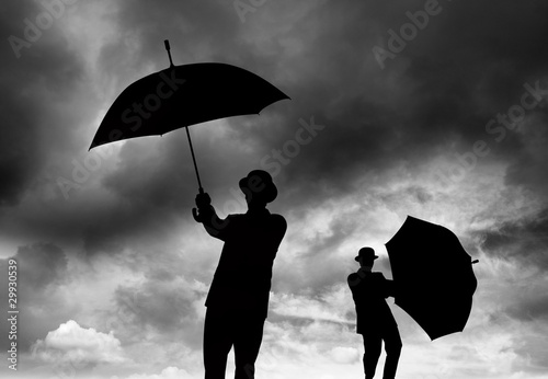Struggling with umbrellas