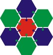 7 hexagons logo