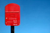 postbox and blue sky poster