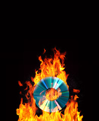 cd on fire