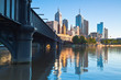 Melbourne skyline across the Yara River