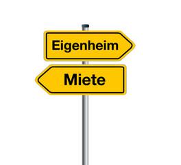Verkehrsschilder Eigenheim - Miete