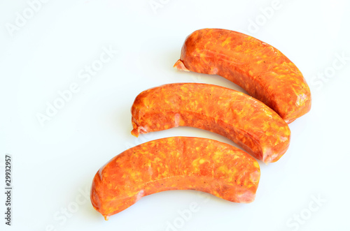 Raw smoked kielbasa