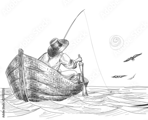 Fisherman drawing - 29935158