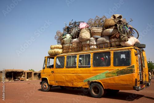 Leinwanddruck Bild Loaded African min van