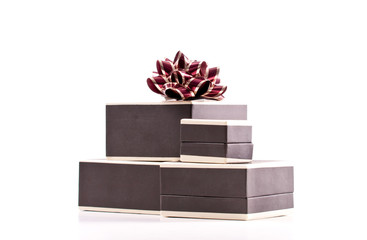 Stack of Jewelry Gift Boxes with Bow