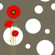 Abstract red poppy wallpaper