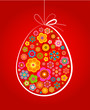 Elegant red Easter egg