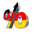 Shiny Percentage Sign Up - Flag of Germany