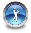 """Glossy Pictogram """"Golfing"""""""