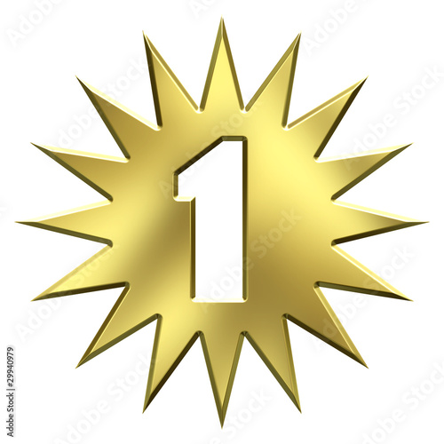 Number one gold star