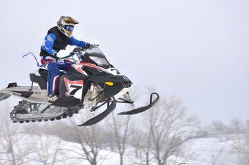 Russia, Samara, snowmobile racing, January 30,2011