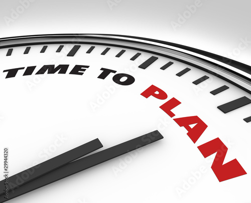 Time to Plan - Clock with Words