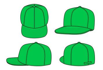 Green rap cap (vector)