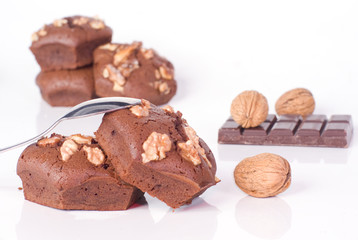 brownies au chocolat et au noix