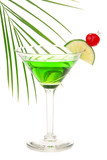 Green absinthe martini alcohol cocktail poster