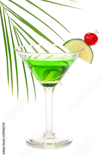 Green absinthe martini alcohol cocktail
